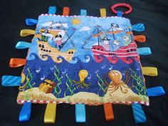 Handmade-Personalised-Taggie-Dummy-Holder-Toy-Link-Cute-Pirates Tag Blanket, Love Tag, Handmade Baby, Pirates, Blankets, Toys, Cute, Ebay, Link