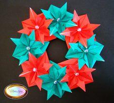 Beautiful Origami Christmas Wreath