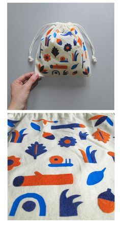 Handcutted pattern made with fabric. Textile Patterns, Textile Design, Fabric Design, Print Patterns, Silk Screen Printing, Surface Pattern Design, Pouch, Illustrations, Tote Bag