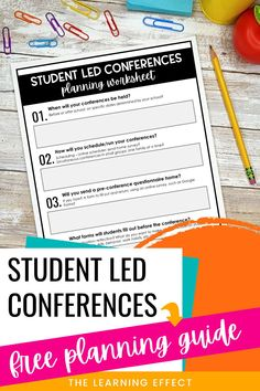 Student Led Conferences are the perfect way to involve students in their parent teacher conferences! Get started planning your student led conferences with this FREE planning guide. You'll receive a planning checklist for in-person and virtual conferences, planning worksheets, and teacher discussion points. Download this freebie today! #thelearningeffect Parents As Teachers, New Teachers, Elementary Teacher, Student Data Tracking, Student Goals, Effective Classroom Management, Classroom Management Strategies, Student Led Conferences, Goal Setting For Students