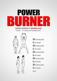 Power Burner  Workout | Posted by: CustomWeightLossProgram.com
