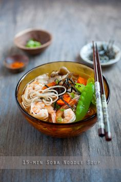 15-Minute Soba Noodle Soup. Super quick and easy noodles in 15 minutes | rasamalaysia.com