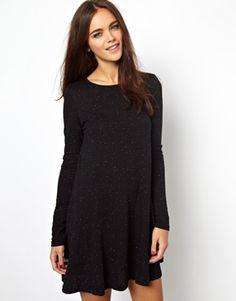 Bild 1 von Glamorous – Ausgestelltes Kleid aus geflecktem Jersey