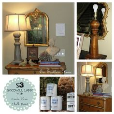 $3 Goodwill Lamp {ASCP Tutorial} - Our Southern Home