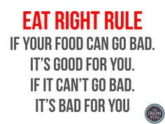 The Eat Right Rule