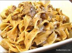 Crockpot Beef Stroganoff Recipe | Just A Pinch Recipes