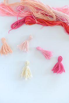 DIY tassels: http://www.stylemepretty.com/living/2015/08/02/diy-ombre-tassel-pillow/ | DIY: M Loves M - http://www.mlovesmblog.com/