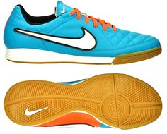 NIKE TIEMPO GENIO LEATHER IC INDOOR SOCCER SHOES Turquoise