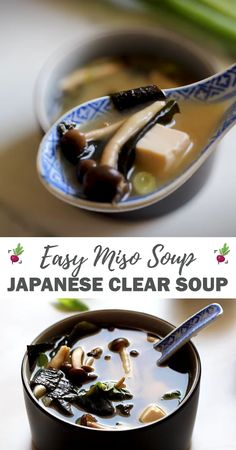 miso soup with miso paste * miso soup miso paste . miso soup without miso paste . miso soup from paste . miso soup with miso paste . how to make miso soup with paste . how to use miso paste soup recipes Easy Japanese Recipes, Asian Recipes, Mexican Food Recipes, Japanese Food Healthy, Japanese Food Dishes, Korean Soup Recipes, Japanese Miso Soup, Japanese Diet, Video Japanese