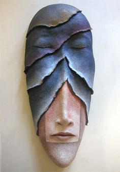 Getting to the Subconscious... ceramic mask by Peggy Bjerkan