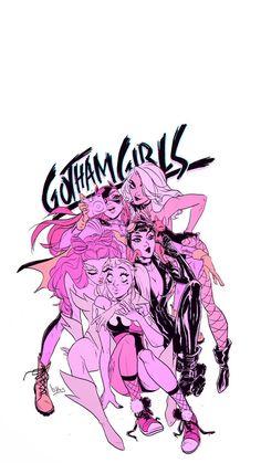 Gotham Girls by 🖤 Batgirl, Catwoman, Bd Pop Art, Harey Quinn, Math Comics, Character Art, Character Design, Personajes Monster High, Univers Dc