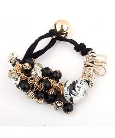 European and American fashion style fruit charm bracelet (Black)