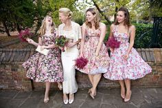 1950s style bridesmaid dresses from Vivien of Holloway