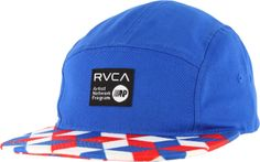 RVCA Barry 5-Panel Hat - red/white/blue