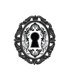 Keyhole Classic Silhouette Victorian Frame Pin #Classichardware