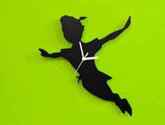 Peter Pan Silhouette  Wall Clock by SolPixieDust on Etsy