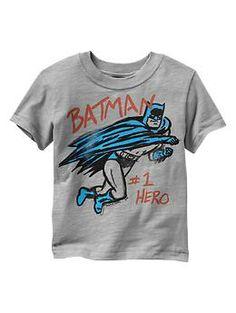 Junk Food™ Batman superhero graphic T available at Gap Kids!  www.junkfoodclothing.com #junkfoodtees