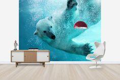 Underwater Polar Bear - Fototapeter & Tapeter - Photowall