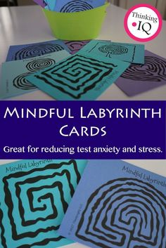 Mindful Labyrinths are great for helping students with anxiety and stress. They are often effective for helping students relax and focus. Great for a mindfulness activity.   These can be used as finger Labyrinths or with a pencil or other tracing object.