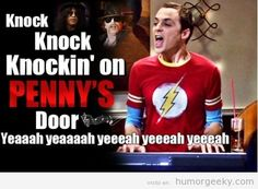 Sheldon Cooper singing, Gee I didn't have to sing it in my head and laugh this much. Big bang theory