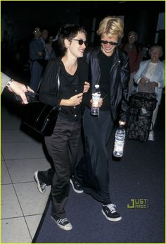 Gwyneth Paltrow & Winona Ryder. No one rocked the long skirt and skater shoes like G. Palts.