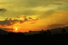 Sunset of Paralayang, Batu, Indonesia