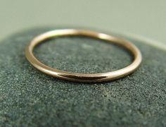 Stacking Ring, Rose Gold Ring, Skinny Ring, Stacked Ring, 14k Gold Filled Wedding Ring, Thumb Ring on Etsy, $15.00