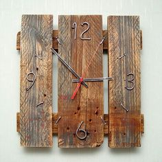 Wooden clock - natural decor for home interior. More clocks like this: #Comfort_Market 🌐 Comfort.Market