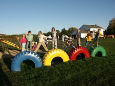 What playground is complete without some form of tire usage?