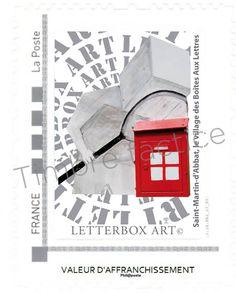 """Timbre LetterboxArt©: Boîte aux lettres """"Conseil"""" à Saint-Martin-d'Abbat."""