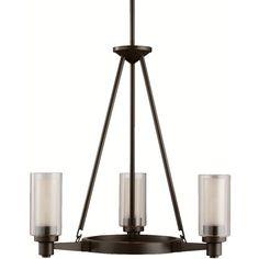 Kichler Lighting 2343OZ Circolo Olde Bronze 3 Light Chandelier ❤ liked on Polyvore