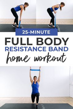 25-Minute Full Body Resistance Band Workout (Video) | Nourish Move Love