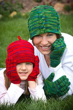 Mountain Colors Crazyfoot Ravelry: Mom & Me Hat and Gloves pattern by Diana Hachenberger