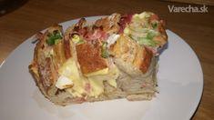 Chlieb plnený syrom, cibuľou a prosciuttom (videorecept)