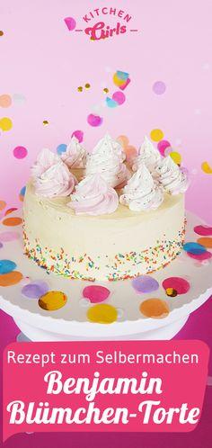 Benjamin Blumchen Torte Zutaten Fur Den Kuchenteig 150 G Weisse Schokolade 100 Ml Milch 140