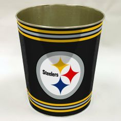 Bon Northwest Pittsburgh Steelers NFL Metal Waste Basket  NOR 1NFL904001078RET:Amazon:Sports U0026 Outdoors