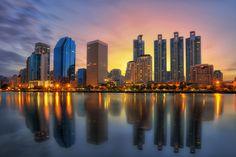 Bangkok city downtown by Anek S on 500px