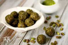 Gluten-Free Vegan Pistachio and Matcha Truffles | The Healthy Family and Home