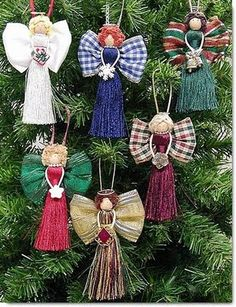 Wrights classroom offers a project for Christmas - Tassel Angels. Angel Crafts, Christmas Projects, Holiday Crafts, July Crafts, Christmas Angel Ornaments, Christmas Holidays, Christmas Decorations, Birthday Decorations, Diy Angels