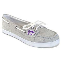 Women's Campus Cruzerz Kansas State Wildcats Kauai Boat Shoes, Size: 6, Grey