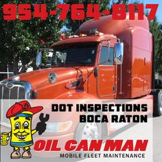 Rig Quote 9547648117 Boca Raton Dot Inspections Services At Oil Can Man .
