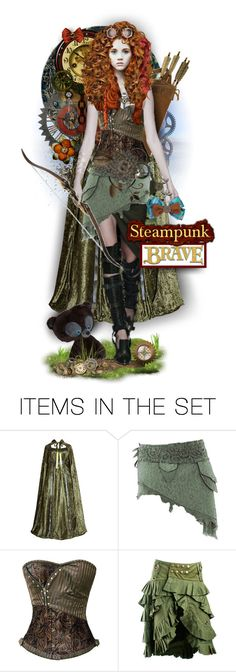 """Steampunk Merida"" by tracireuer ❤ liked on Polyvore featuring art"
