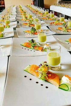 The Flying Chefs Gourmet Catering conjures the perfect food for your wedding Gourmet Catering, Chef Gourmet, Gourmet Food Plating, Catering Ideas, Catering Events, Food Plating Techniques, Smoked Salmon Salad, Cooking Recipes, Healthy Recipes