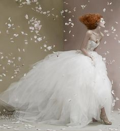 Wedding Dress Photos - Find the perfect wedding dress pictures and wedding gown photos at WeddingWire. Browse through thousands of photos of wedding dresses. Bridal Gowns, Wedding Gowns, Fru Fru, Fairytale Fashion, Wedding Dress Styles, Wedding Colors, Bridal Collection, Couture Collection, Dress Collection