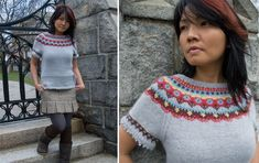 Glee Sweater, it has great  Charts for Knits, the sleeve is very cute, could use on sock?