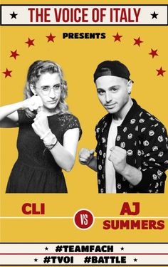 Battle #1 - The Voice of Italy 2015 - #tvoi #CLI vs #AjSummers #TeamFach