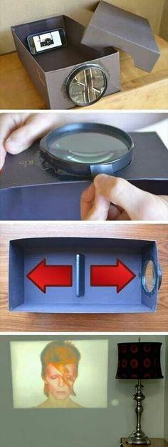 DIY turn phone into projector! :D #cheap #easy #followformore