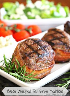 Bacon Wrapped Top Sirloin Medallions - melissassouthernstylekitchen.com