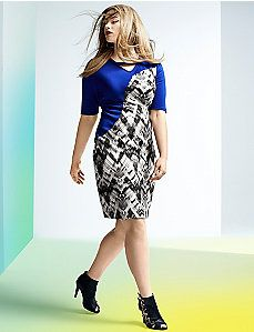 6th & Lane printed sheath dress #LaneBryant