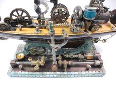 """Enough for Seven Oceans"" (detail) found object assemblage by Assemblique™"
